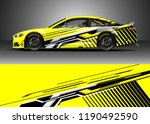 car decal wrap design vector.... | Shutterstock .eps vector #1190492590