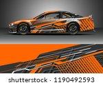 car decal wrap design vector....   Shutterstock .eps vector #1190492593