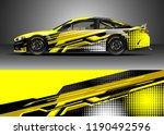 car decal wrap design vector.... | Shutterstock .eps vector #1190492596