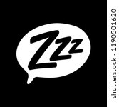 z z z text on text bubble.... | Shutterstock .eps vector #1190501620
