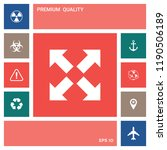 extend  resize icon. cross... | Shutterstock .eps vector #1190506189