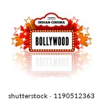 bollywood is a traditional... | Shutterstock .eps vector #1190512363