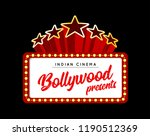 bollywood is a traditional... | Shutterstock .eps vector #1190512369