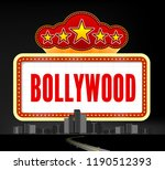 bollywood is a traditional... | Shutterstock . vector #1190512393