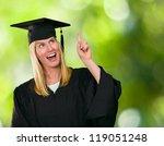 graduate woman holding digital... | Shutterstock . vector #119051248