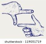 hand  symbol frame. doodle style   Shutterstock .eps vector #119051719