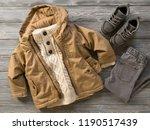 fashion children's clothing ... | Shutterstock . vector #1190517439