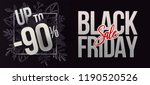 black friday design with paper... | Shutterstock .eps vector #1190520526
