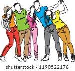 friend having fun together... | Shutterstock .eps vector #1190522176