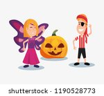 halloween people customes | Shutterstock .eps vector #1190528773