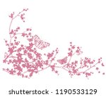 cherry tree blooming branches... | Shutterstock .eps vector #1190533129