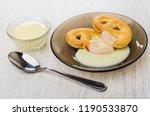 cookies in form pretzels with... | Shutterstock . vector #1190533870