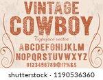 vintage font handcrafted vector ... | Shutterstock .eps vector #1190536360