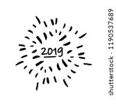 happy new 2019 year greeting... | Shutterstock .eps vector #1190537689