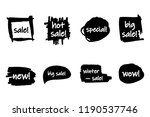 vector collection of hand drawn ... | Shutterstock .eps vector #1190537746