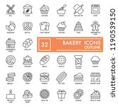 bakery with inscription line... | Shutterstock .eps vector #1190539150