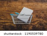 empty shopping basket with... | Shutterstock . vector #1190539780