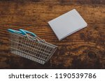 empty shopping basket with... | Shutterstock . vector #1190539786