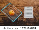 apple and shopping basket with... | Shutterstock . vector #1190539813