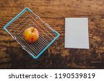 apple and shopping basket with... | Shutterstock . vector #1190539819