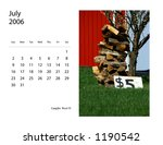 July 2006 Calendar With  Image...