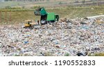 unloading a garbage truck on a...   Shutterstock . vector #1190552833