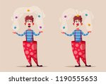 circus show. funny clown...   Shutterstock .eps vector #1190555653