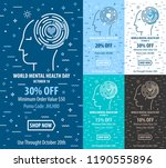 sale banner with human face and ...   Shutterstock .eps vector #1190555896