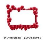 landscape frame poster mock up... | Shutterstock .eps vector #1190555953