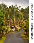 balinese village decorated with ... | Shutterstock . vector #1190557930