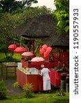 colorful balinese hindu alter... | Shutterstock . vector #1190557933