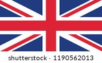 united kingdom flag. flag of... | Shutterstock .eps vector #1190562013