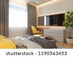 3d illustration  bedroom...   Shutterstock . vector #1190563453