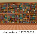 big cartoon library with many... | Shutterstock .eps vector #1190563813