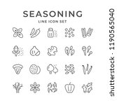 set line icons of seasoning | Shutterstock .eps vector #1190565040