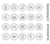 set round line icons of sound | Shutterstock .eps vector #1190565046