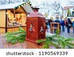 street lantern in christmas...   Shutterstock . vector #1190569339