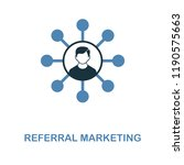 referral marketing icon in two...