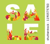 sale or discount promo banner... | Shutterstock .eps vector #1190575783