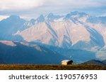 mountain landscape. peak in...   Shutterstock . vector #1190576953