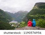 geiranger city and...   Shutterstock . vector #1190576956