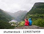 geiranger city and...   Shutterstock . vector #1190576959