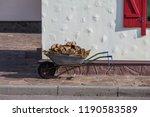 an antique painted wooden... | Shutterstock . vector #1190583589