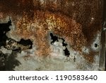 corroded white metal background.... | Shutterstock . vector #1190583640
