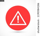attention sign vector icon 10... | Shutterstock .eps vector #1190584186