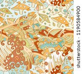 tracery seamless pattern.... | Shutterstock .eps vector #1190584900