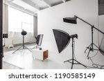 photographic studio space with... | Shutterstock . vector #1190585149