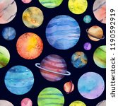 seamless pattern with colorful... | Shutterstock . vector #1190592919