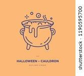 cauldron line icon | Shutterstock .eps vector #1190595700