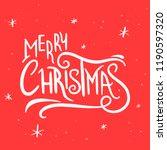 merry christmas vintage hand... | Shutterstock .eps vector #1190597320